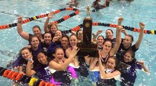 Girls' swimming places second at state