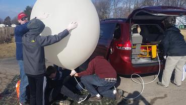 Weather balloon 'Major Tom' takes flight