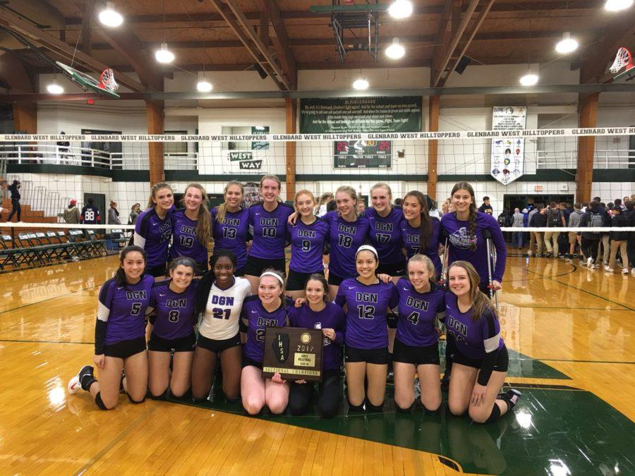 Girls' volleyball bonds over success