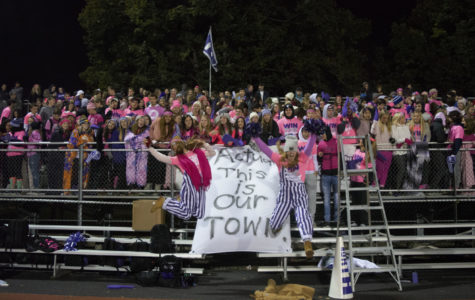 FLAG ON FIRE: DGS students burn DGN fan section banner after losing 10-0