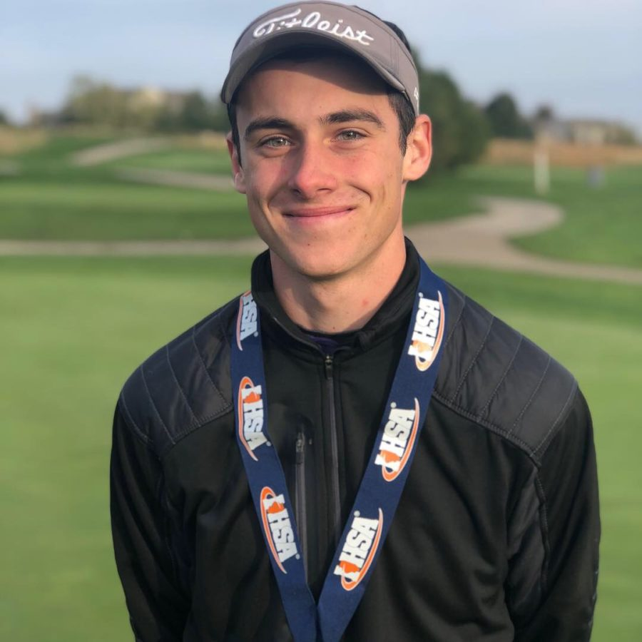 Aidan Lafferty finishes third in state despite cold weather
