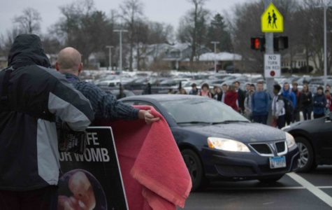 Protests: Anti-abortion protesters assemble in front of DGN