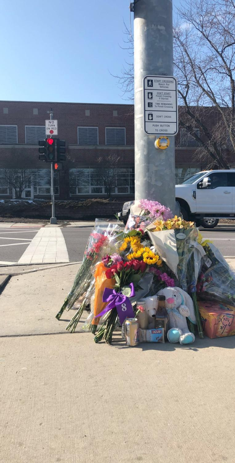 After Beth Dunlap (11) passed away, students honored her by putting flowers and candles at the crash site. However, the Dunlap family requested that the memorial be moved from the crash site, explaining that it