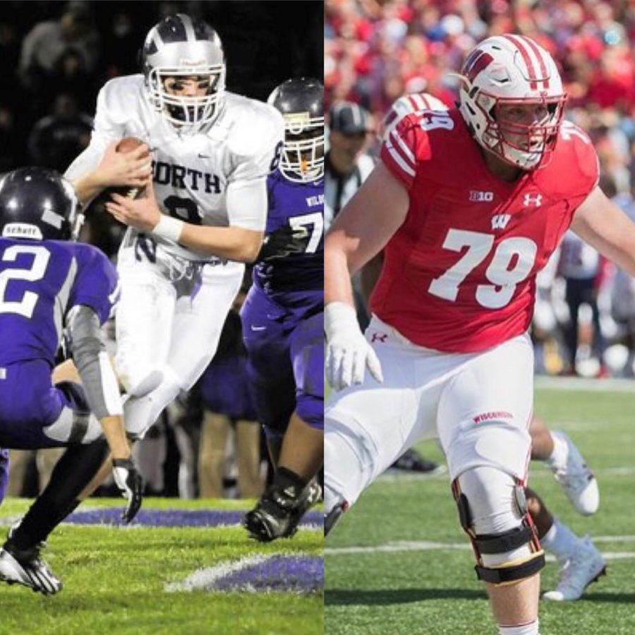 GOING+PRO%3A+Former+DGN+football+player+David+Edwards+is+drafted+to+the+Los+Angeles+Rams+in+the+2019+NFL+Draft%2C+after+playing+three+seasons+for+the+Wisconsin+Badgers.+