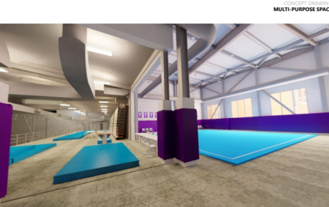 MASTER FACILITY PLANS: Renovation plans show what the South Purple Gym balcony will look like in 2020