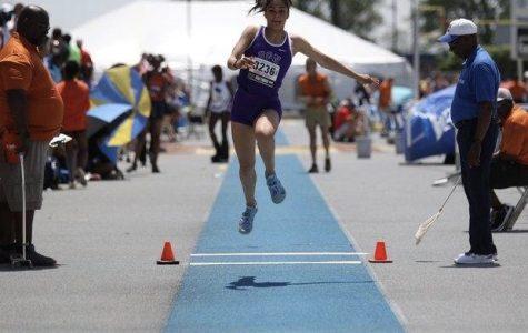 Cinotte breaks school triple jump record at indoor season's first meet