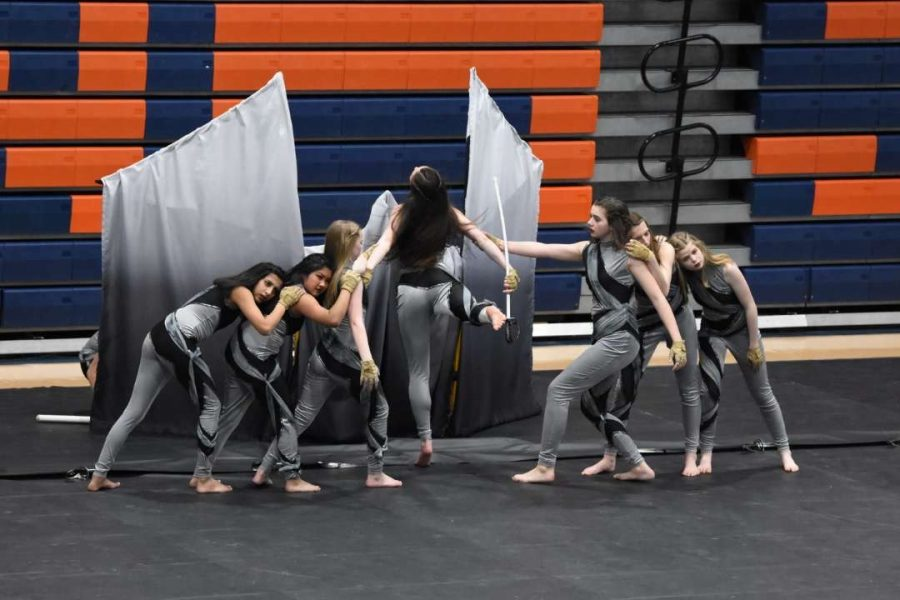 PERFORMING: DGN Winter Guard's performance this season is named Lonesome. The Winter Guard has placed in the top two at every competition they've attended this year.