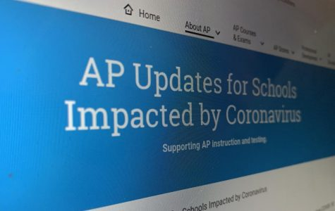 MAKING CHANGES: The College Board's website, which features all the changes made to this year's AP exams.
