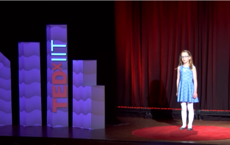IN THE SPOTLIGHT: Kate Cesario (09) gives a TED Talk August 2016 at the age of 10.