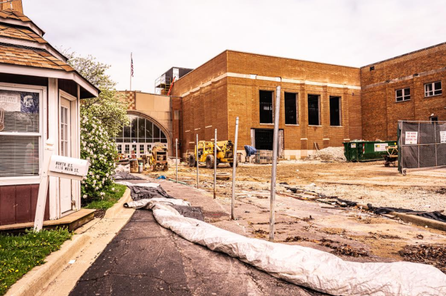 Construction may be expedited due to school closure