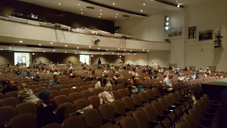 """""""The audience members had to sit in every other row with about three seats between them so everyone was very spread out across the auditorium,"""" said Boone"""