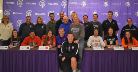 DGN senior athlete commits and their coaches on signing day November 13, 2019.