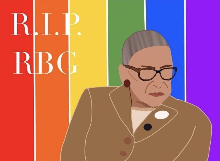 BEACON OF HOPE: Ruth Bader Ginsburg was revered as a champion of equality for all, and she prominently advocated for LGBTQ+ rights.