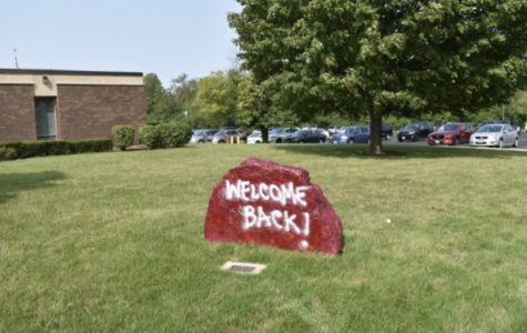 ROCKIN' IT: Montini students were greeted back to school Aug. 17, using the new hybrid schedule.