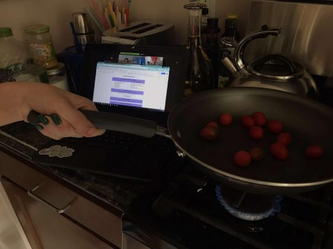 COOKING ON ZOOM: how a typical lab day in a remote learning culinary class would look.