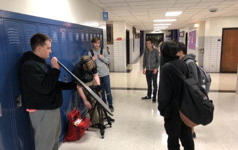 RECORDING: TV Club sets up for a film project pre-pandemic.