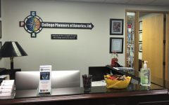 PLANNING: College Admissions Advisor Michael McKinnon's office leads to future college realities.