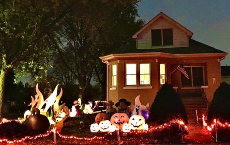 LIT UP: Downers Grove Resident Kay Pappineau's home captures Halloween spirit despite the year's contrastive circumstances.