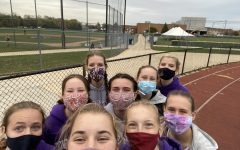 "MASKED MEET: ""Everyone was excited to run our last race against DGS to see what we could do with our months of training,"" Schultz said."