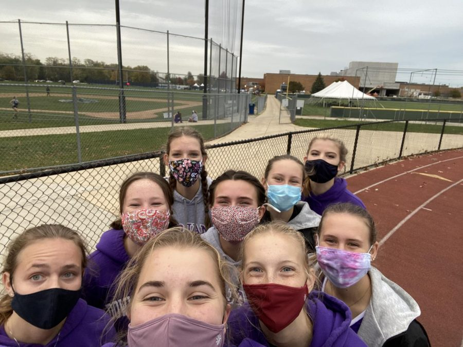 """MASKED MEET: """"Everyone was excited to run our last race against DGS to see what we could do with our months of training,"""" Schultz said."""