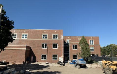 NEW ADDITIONS: the southeast corner of the building has been recently added to.