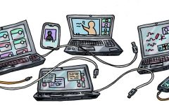 EVOLUTION: Remote learning has changed in many ways; including a switch from mainly asynchronous learning in the spring to organized and synchronous in the fall. However, many believe that there are still many improvements to be made for the future of remote learning.