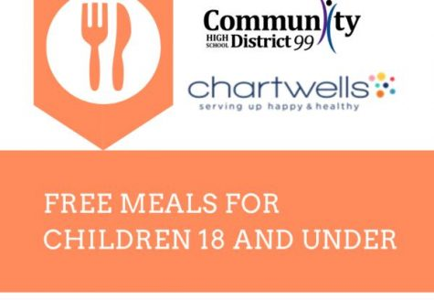 Feeding the community: District 99 and food service provider Chartwells have helped provide free meals for children throughout the district.