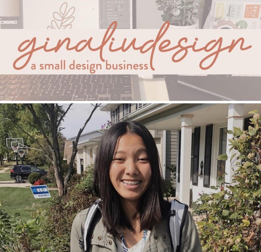 UP-AND-COMING: Freshman Gina Liu has turned her passion for art into a design business.