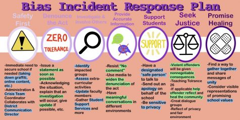 BIAS INCIDENT RESPONSE PLAN: an infographic outlining the district