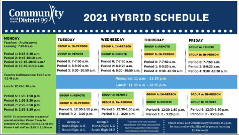 HYBRID MODEL: the hybrid schedule for next year, which will go into place if metrics and requirements are in the right spot by Jan. 5