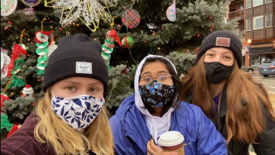 HOLIDAY FESTIVITIES: Editors Amelia Carlson, Vanessa Lopez, and Olivia Shirk partake in Seasonal Selections episode 2.