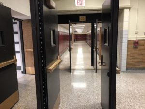 EMPTYING HALLS: Hybrid learning leaves most halls and classrooms barren.