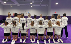 LEAVING IT ALL ON THE MAT: DGN varsity cheer team competes in the coed division at state