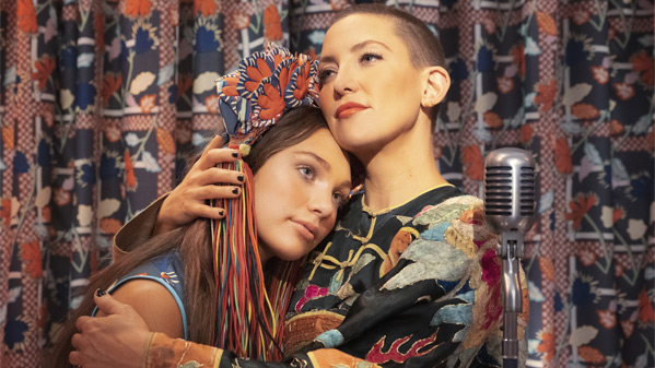 Music portrayed by Maddie Ziegler and Kazu portrayed by Kate Hudson.