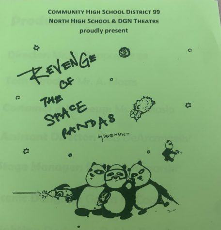 PLAYBILL: This years varsity play was Revenge of the Space Pandas, originally written by David Mamet as a family friendly comedy.